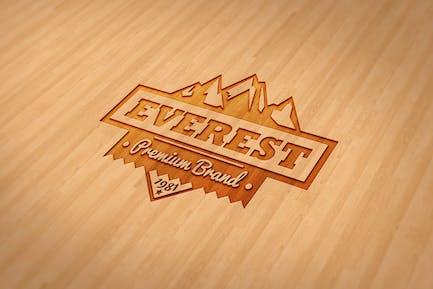 Wood Engraved Mockup