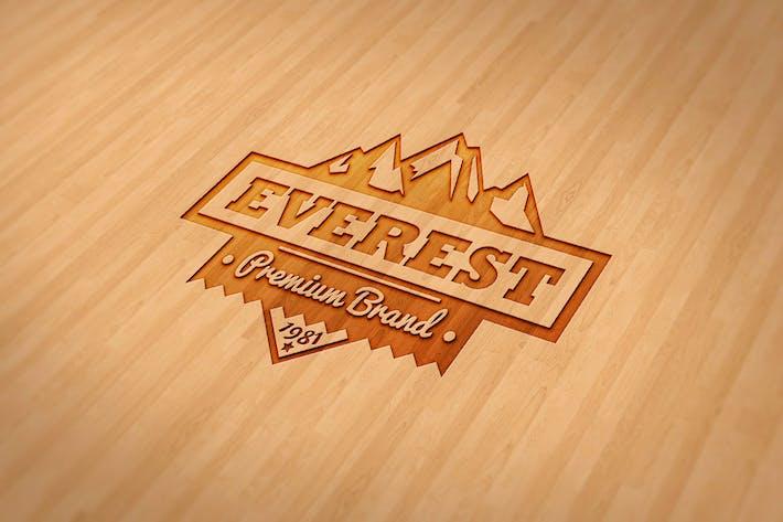 Thumbnail for Wood Engraved Mockup