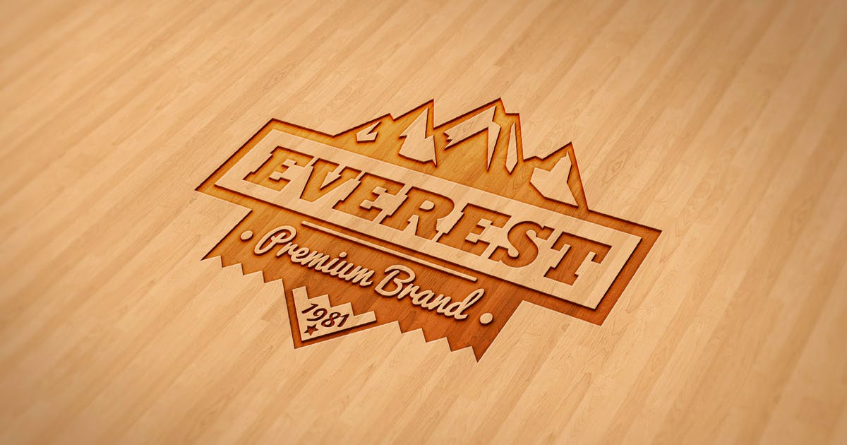 Download Wood Engraved Mockup by ShinyPixel