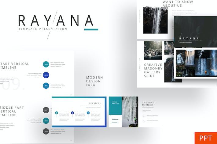 Rayana - Galería Plantilla Powerpoint