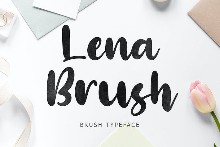 Thumbnail for Lena Brush Typeface