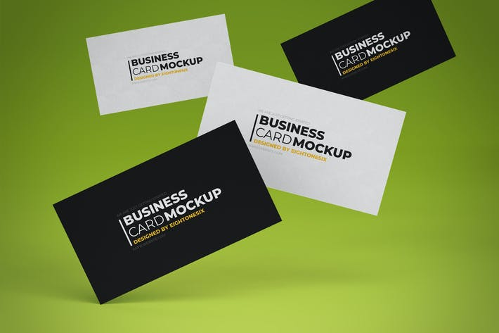 Thumbnail for Business Card Mock-Up Template
