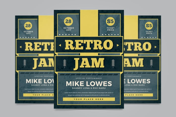 Thumbnail for Retro Jam Flyer