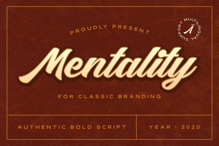 Thumbnail for Mentality - Authentic Bold Script