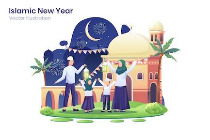 Illustration du Nouvel An islamique - Agnytemp