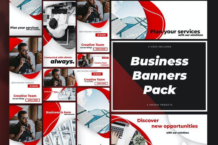 Cover Image For Business Banners Pack