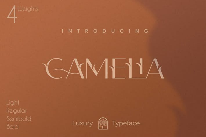 Thumbnail for Camelia Sans - Unique Florist Typeface