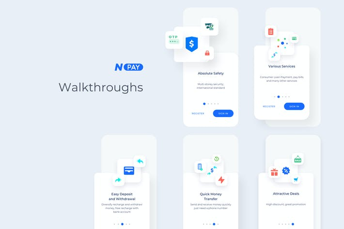 Thumbnail for Launch & Walkthroughs - Wallet Mobile UI - N