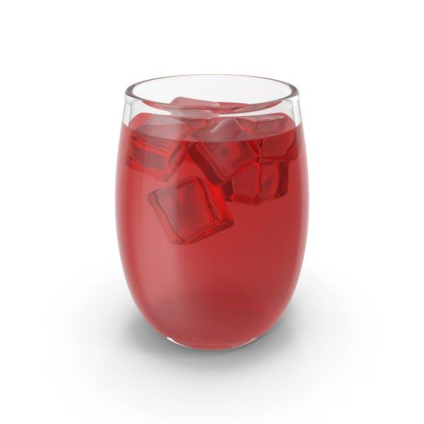 Стакан сока со льдом