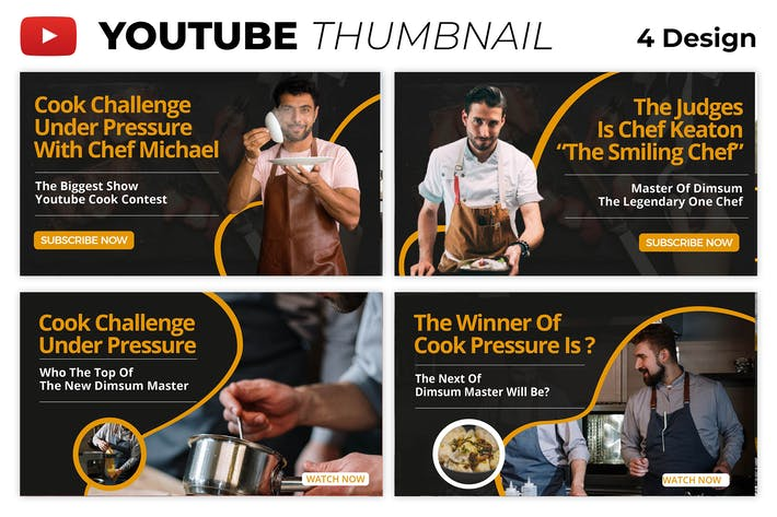 Cook Youtube Thumbnail Template
