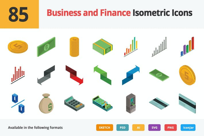 Thumbnail for Business and Finance Vector Isometric Icons