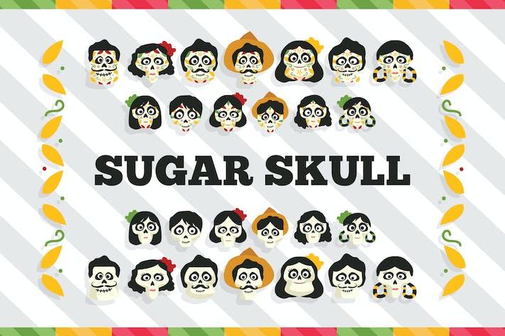 Thumbnail for Sugar Skull Vector