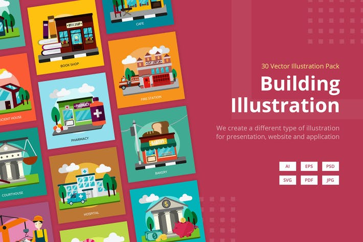 Thumbnail for Building Vector Illustration