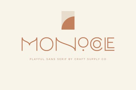 Monocole - Playful Sans Serif | 8 Fonts