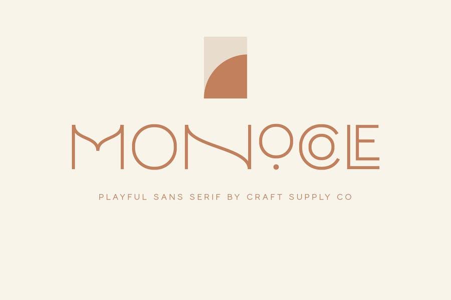 Monocole - Playful Sans Serif   8 Fonts