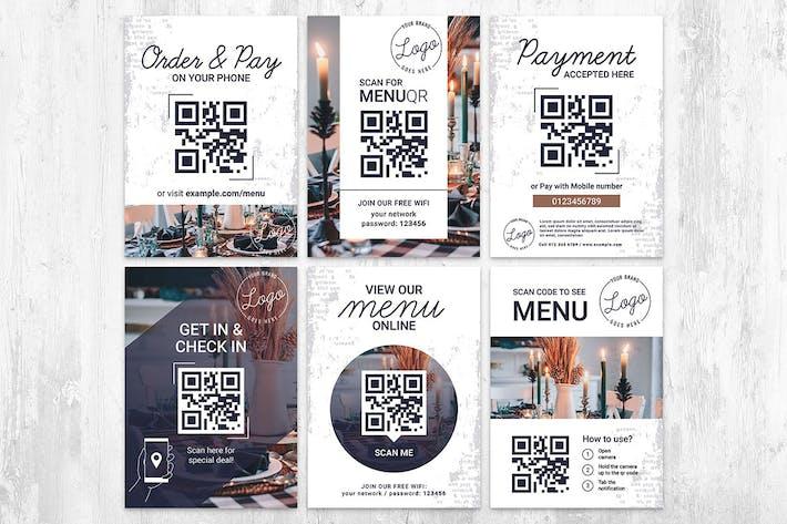 QR Code Flyer for Restaurant