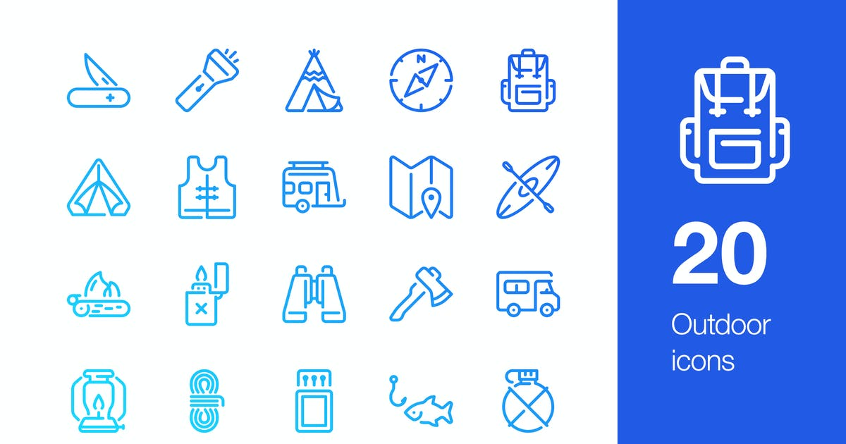 20 Outdoor icons by mir_design