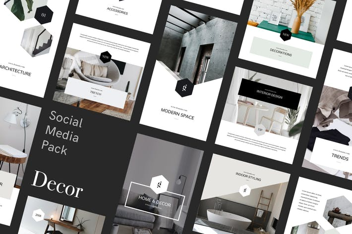 Thumbnail for Decor Social Media Pack