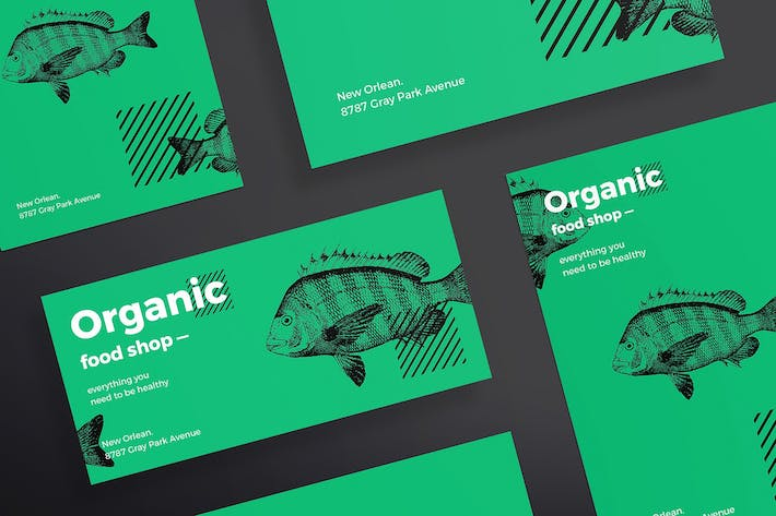Cover Image For Organic Food Flyer and Poster Template