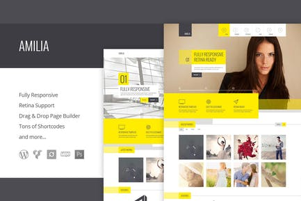 Amilia - Multipurpose One & Multi Page WP Theme