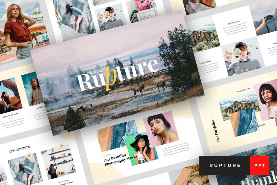 Rupture - Folk Style Agency PowerPoint Template