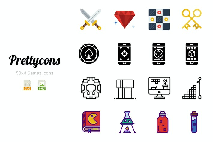 Thumbnail for Prettycons - 200 Games Icons Vol.1