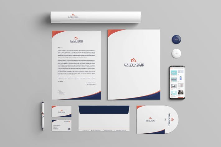 Daily Home Branding Identity & Stationery Pack