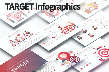 TARGET - PowerPoint Infographics Slides