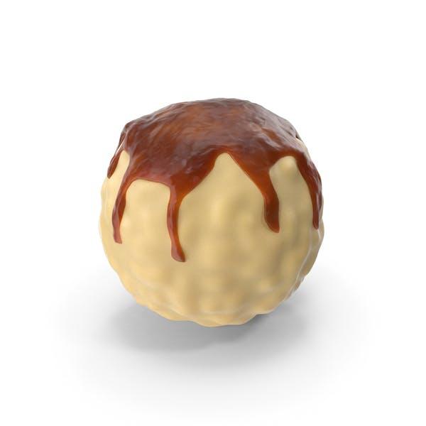 White Chocolate Ball with Caramel Glaze