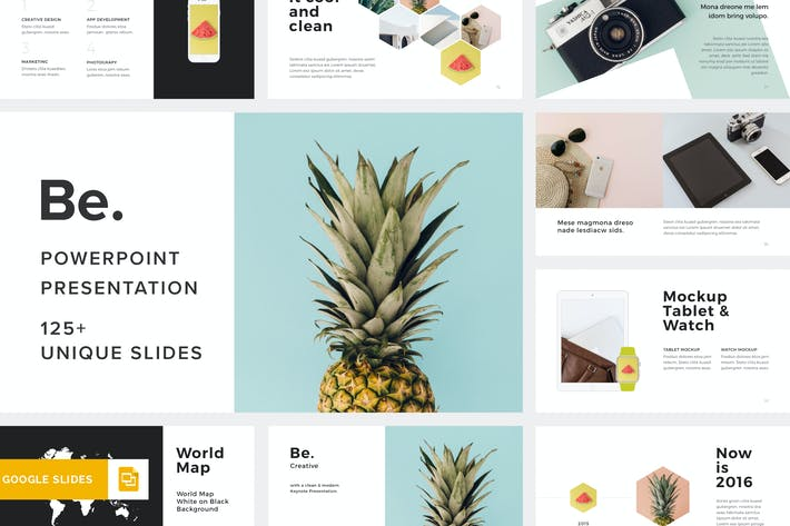 Be  Google Slides Template by Pixasquare on Envato Elements