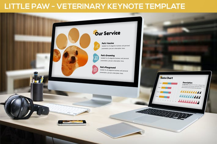 Thumbnail for Little Paw - Veterinary Keynote Template