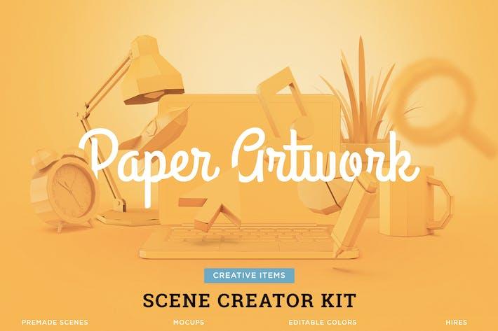 Thumbnail for Créateur de scène d'artisanat en papier