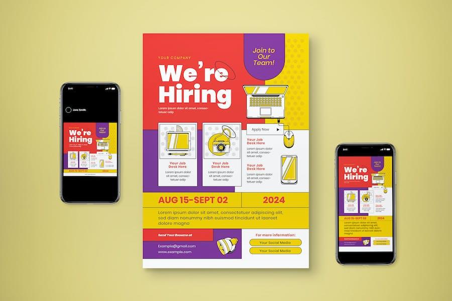 Hiring Job Flyer Set