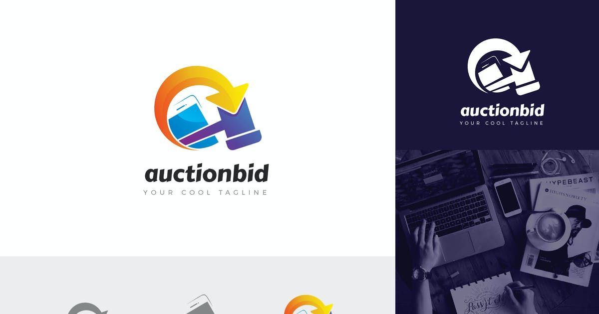 Download Auctionbid Corporate Logo Vector Template by naulicrea