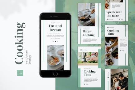 Kochen Instagram-Geschichten