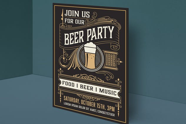 Beer party poster
