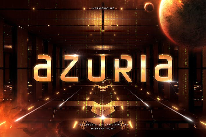 Thumbnail for Azuria - Technology Science Font
