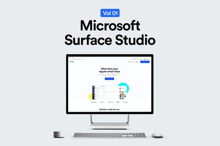Thumbnail for Microsoft Surface Studio Mockup