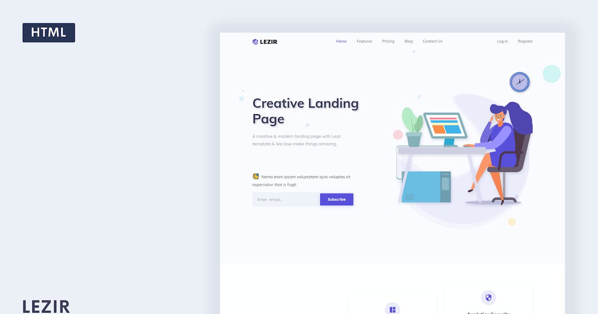 Download Lezir - Landing Page Template by Themesbrand