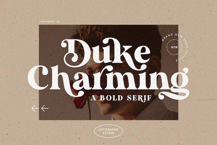 Thumbnail for Duke Charming - Un Con serifa audaz único