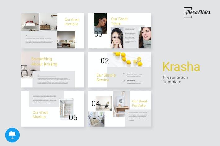 Thumbnail for Krasha - Kreative Keynote Vorlage