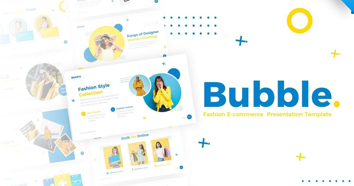 Download Bubble Fashion Keynote Presentation Template by RRgraph