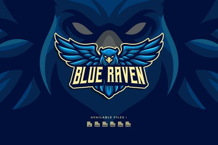 Blue Raven Sport And Esport Logo