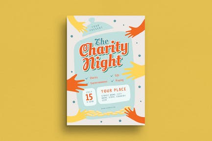 Charity Night Event Flyer