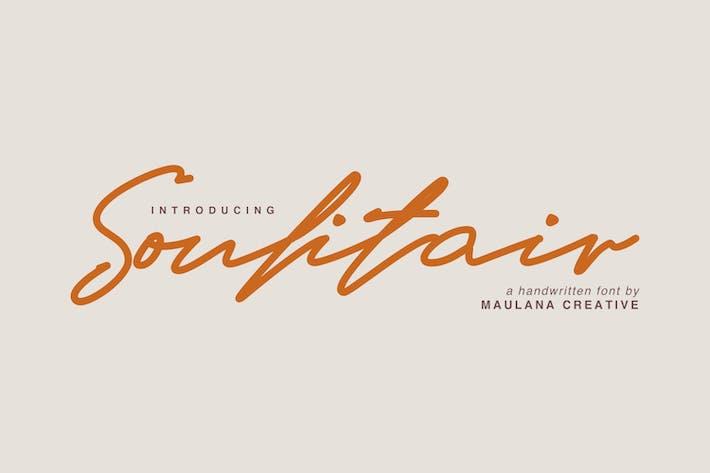 Thumbnail for Soulitair Signature Font