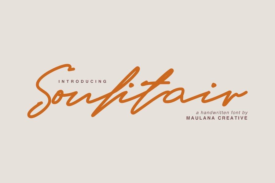 Soulitair Signature Font