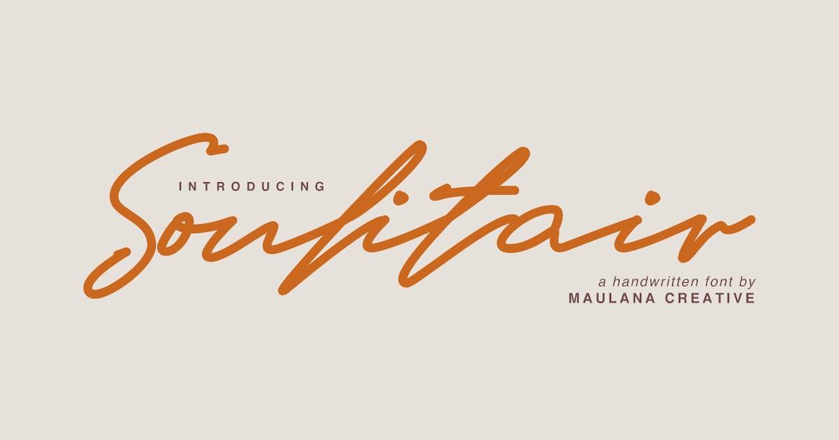Download Soulitair Signature Font by maulanacreative
