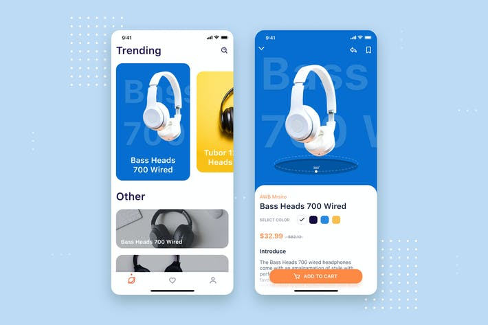 Thumbnail for Headphone Store Mobile UI Concept