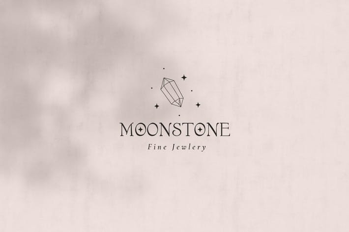 Moonstone Pre-Made Brand Logo Design. Crystal Logo