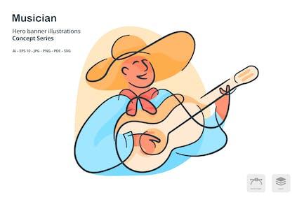 Musician Occupation Vector Illustration